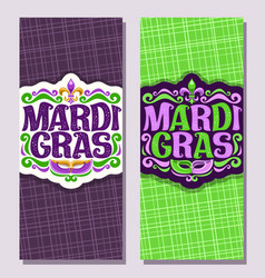 vertical banners for mardi gras vector image