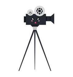 Video camera cinema kawaii character vector
