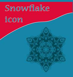 Vinatge snowflake icon design vector