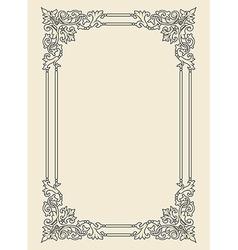 Vintage photo frame ornamental vector