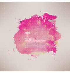 Watercolor texture pink grunge paper template vector
