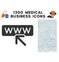 Website address icon with 1300 medical business vector