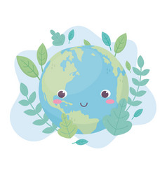 World leaves foliage environment ecology cartoon vector
