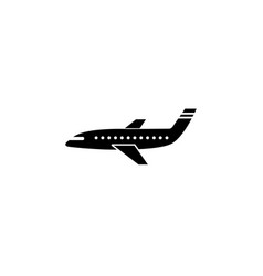airplane solid icon navigation and air transport vector image