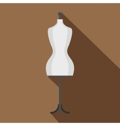 Mannequin icon flat style vector image vector image