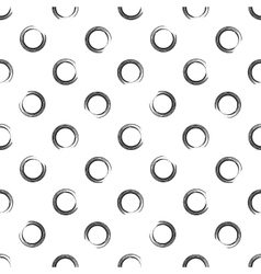 Seamless pattern of open round point vector image vector image