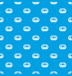 stadium top view pattern seamless blue vector image vector image