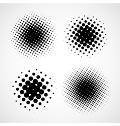 Abstract Halftone Backgrounds Set of Isolated vector image vector image