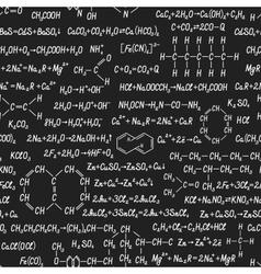 Chemistry seamless pattern on blackboard vector image vector image
