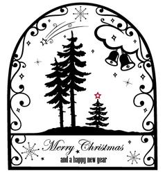 Christmas silhouette vector image
