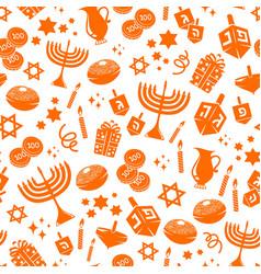 hanukkah pattern vector image vector image
