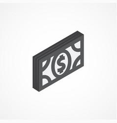money isometric icon 3d vector image vector image