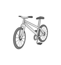 Bike icon black monochrome style vector image vector image