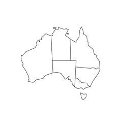 Blind map of Australia vector image vector image