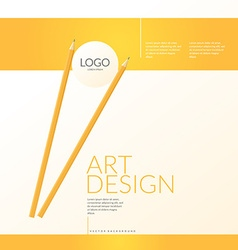Contemporary bright background to showcase your vector image vector image