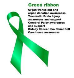 Green ribbon vector image