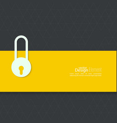 Lock with tape vector image vector image