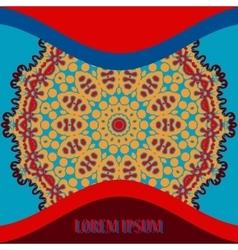 Mandala Cover background Postcard Vintage vector image vector image