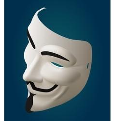 mask isometric vector image
