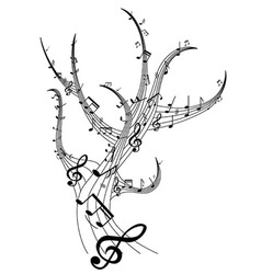 music tree vector image vector image