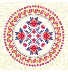 Ornamental round lace Ethnic seamless pattern vector image vector image
