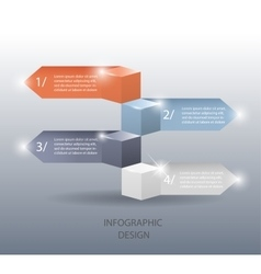 template for infographic or web design vector image vector image
