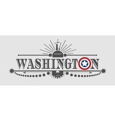 Washington city name with flag colors vector image