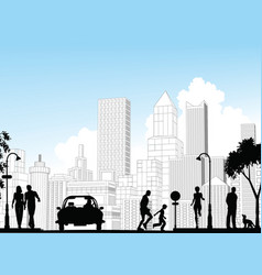 city street vector image vector image
