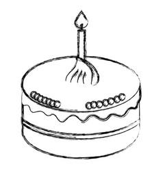 delicious cake celebration icon vector image vector image