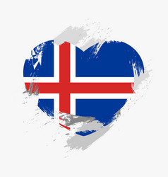 flag of iceland vector image vector image