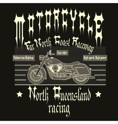 Motorcycle Racing Typography t-shirt vector image