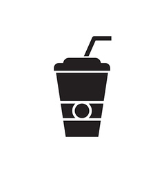 Paper Cup Silhouette vector image vector image