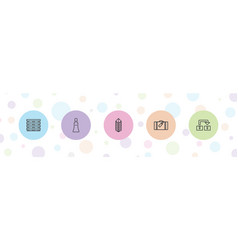 5 package icons vector