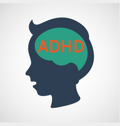Adhd attention deficit hyperactivity disorder vector