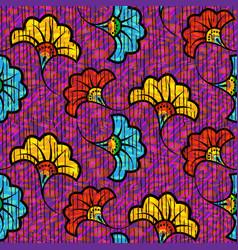 african wax print fabric ethnic seamless design vector image