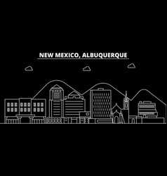 albuquerque silhouette skyline usa - albuquerque vector image