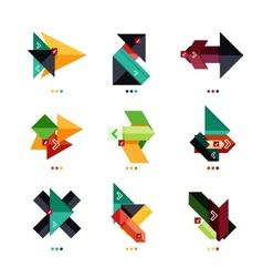 Arrow business geometric stickers vector