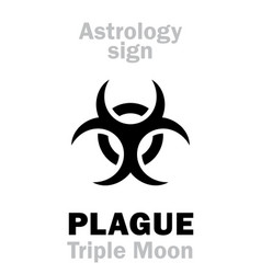 Astrology plague black triple moon vector