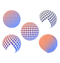 Balls of different kinds vector