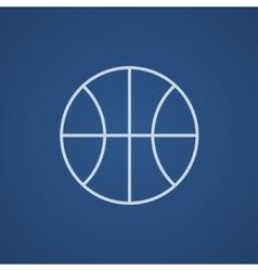 Basketball ball line icon vector