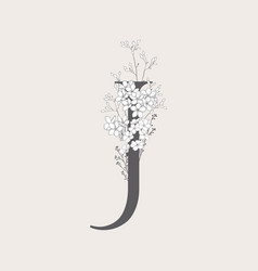 Blooming floral initial j monogram and logo vector