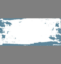 Blue paint on white background vector