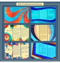 Brochures template set vector image