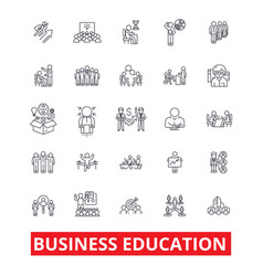 Business education mba training coaching vector