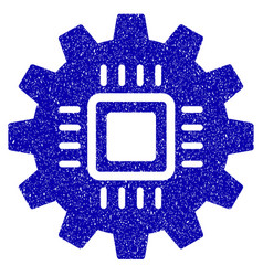 Chip development gear icon grunge watermark vector