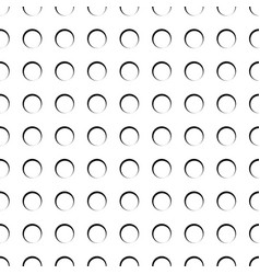 Circles rings seamless pattern monochrome vector
