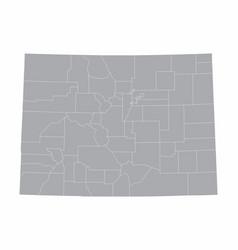 colorado counties map vector image