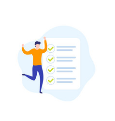 Completed task to do list icon vector