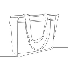 continuous line shopping bag concept vector image