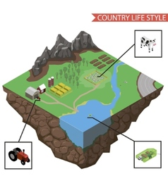 Country life infographics vector